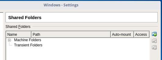 share folder window