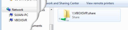 shared folder access